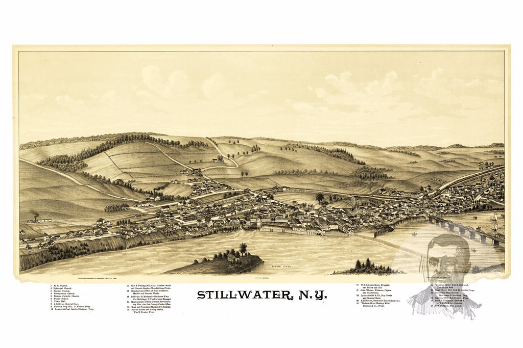 Stillwater, NY Historical Map - 1889