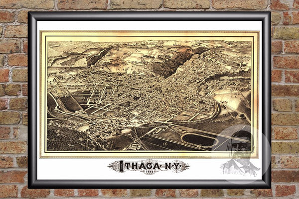 Ithaca, NY Historical Map - 1882
