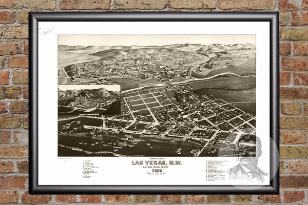 Las Vegas, NM Historical Map - 1882