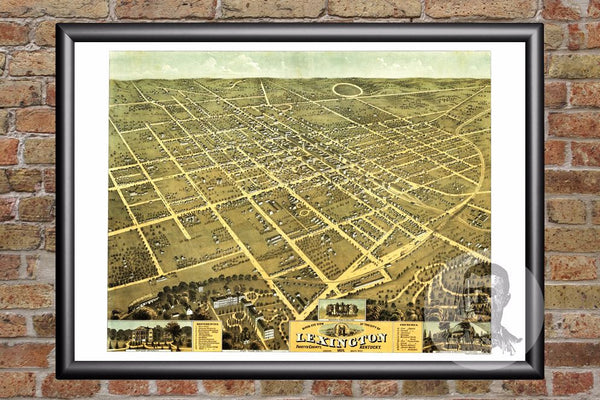 Lexington, KY Historical Map - 1871