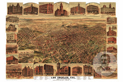 Los Angeles, CA Historical Map - 1891