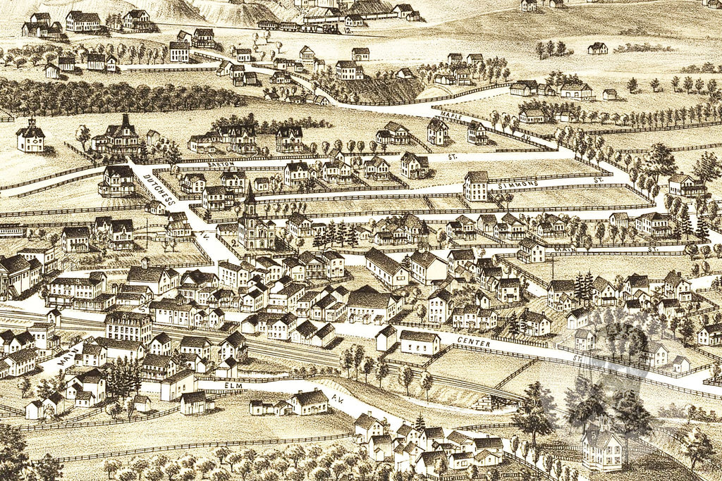 Millerton, NY Historical Map - 1887