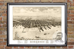 Muskegon, MI Historical Map - 1874