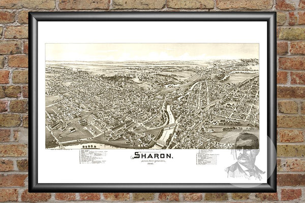 Sharon, PA Historical Map - 1901