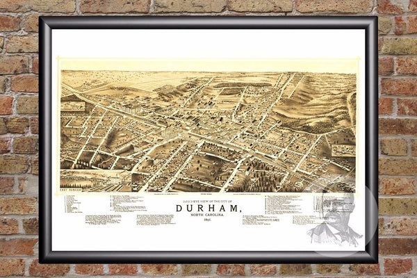 Durham, NC Historical Map - 1891