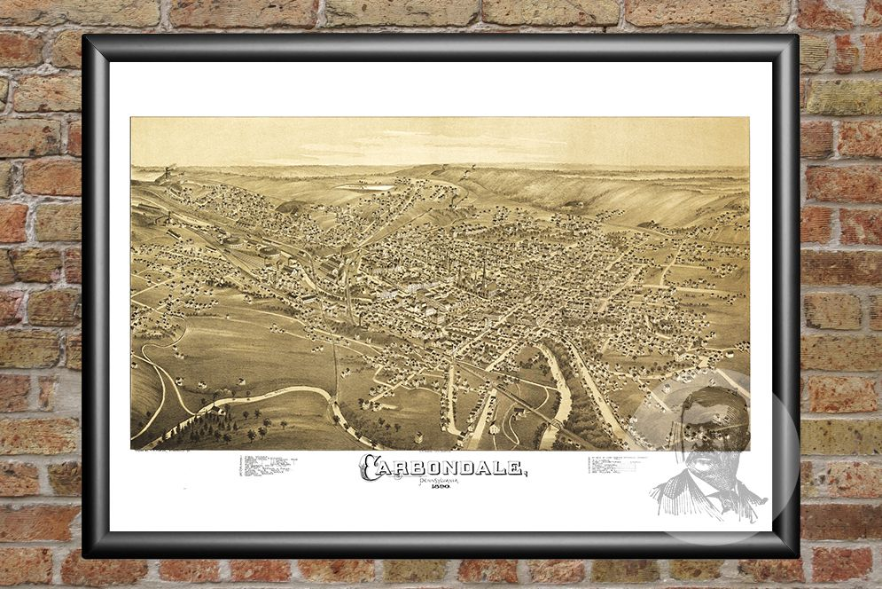 Carbondale, PA Historical Map - 1897