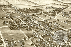 Zelienople, PA Historical Map - 1901