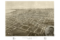 Fond du Lac, WI Historical Map - 1867