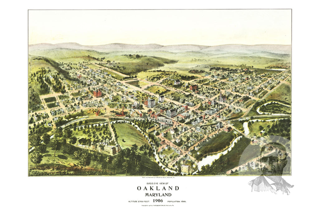 Oakland, MD Historical Map - 1906