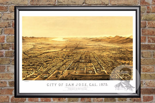 San Jose, CA Historical Map - 1875