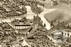 Dover, NH Historical Map - 1888