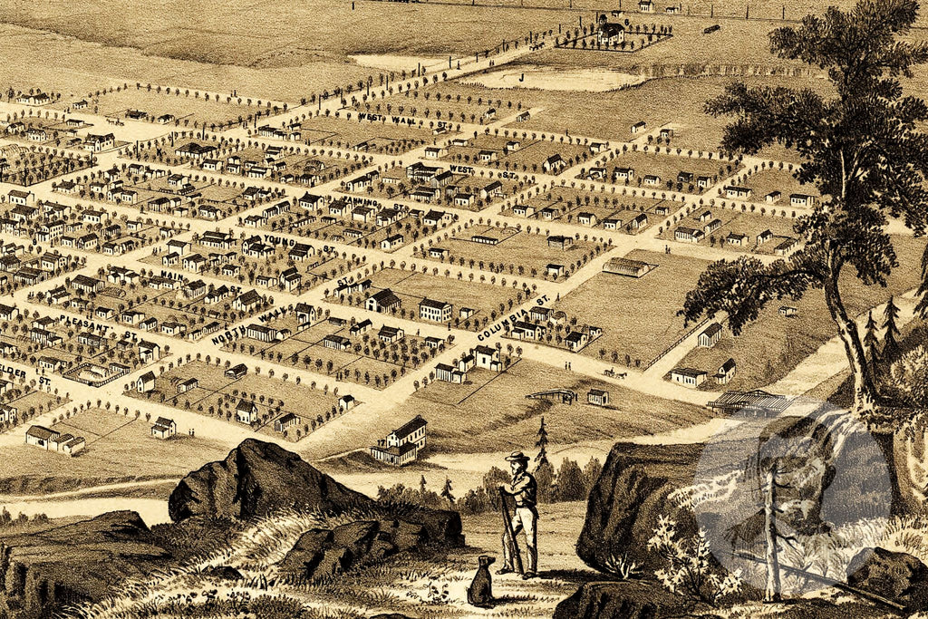 Brigham City, UT Historical Map - 1875 - Ted's Vintage Maps
