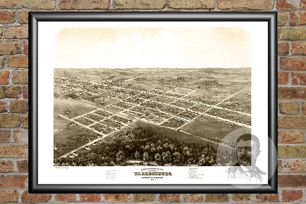 Warrensburg, MO Historical Map - 1869
