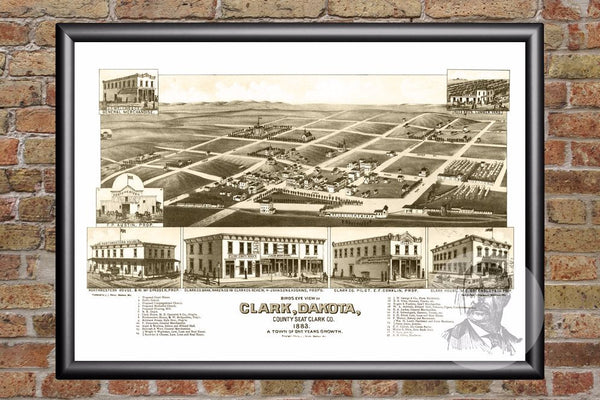 Clark, SD Historical Map - 1883