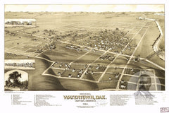 Watertown, SD Historical Map - 1883