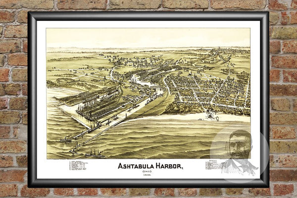 Ashtabula Harbor, OH Historical Map - 1896