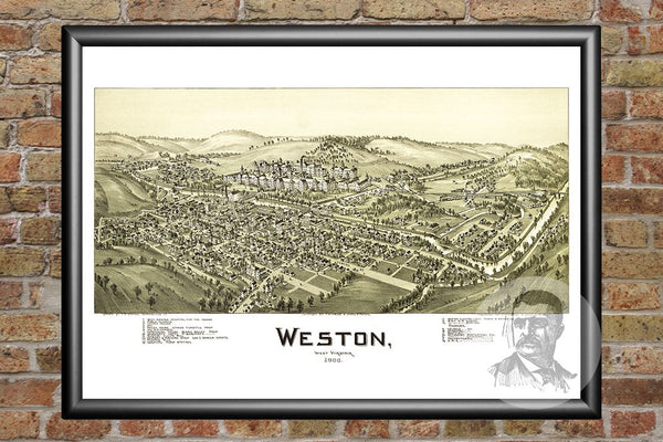 Weston, WV Historical Map - 1900