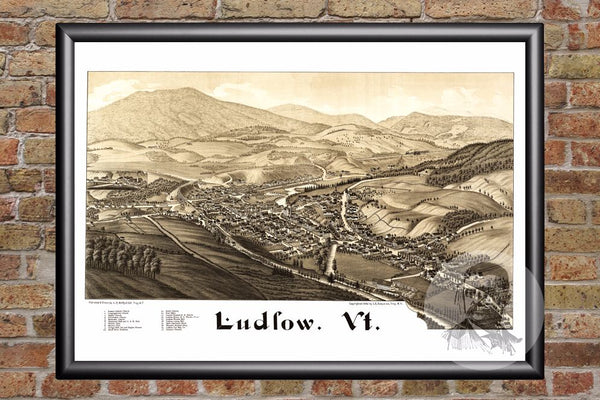 Ludlow, VT Historical Map - 1885