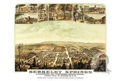 Berkeley Springs, VA Historical Map - 1889