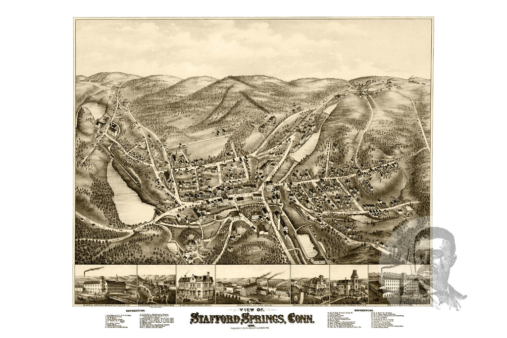 Stafford Springs, CT Historical Map - 1878