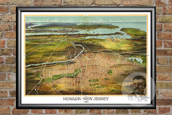 Newark, NJ Historical Map - 1916