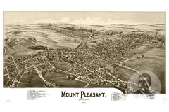 Mount Pleasant, PA Historical Map - 1900