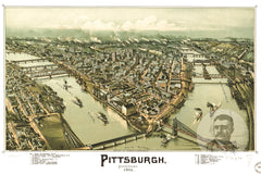 Pittsburgh, PA Historical Map - 1902