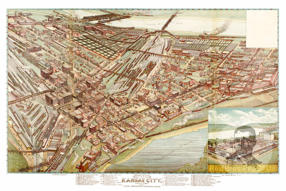 Kansas City, MO Historical Map - 1895 - Ted's Vintage Maps