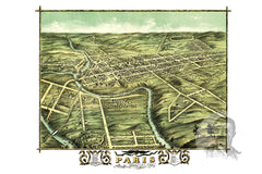 Paris, KY Historical Map - 1870