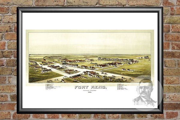 Fort Reno, OK Historical Map - 1891