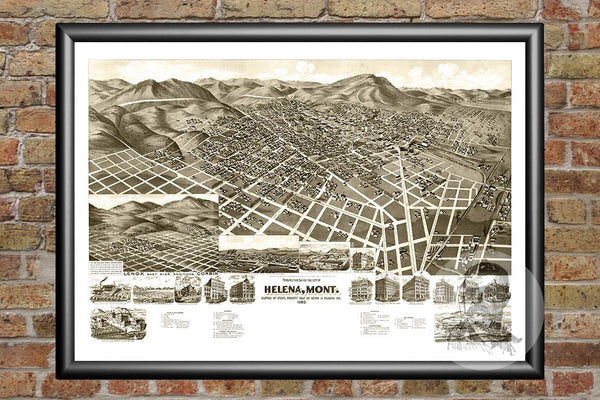 Helena, MT Historical Map - 1890