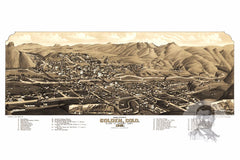 Golden, CO Historical Map - 1882