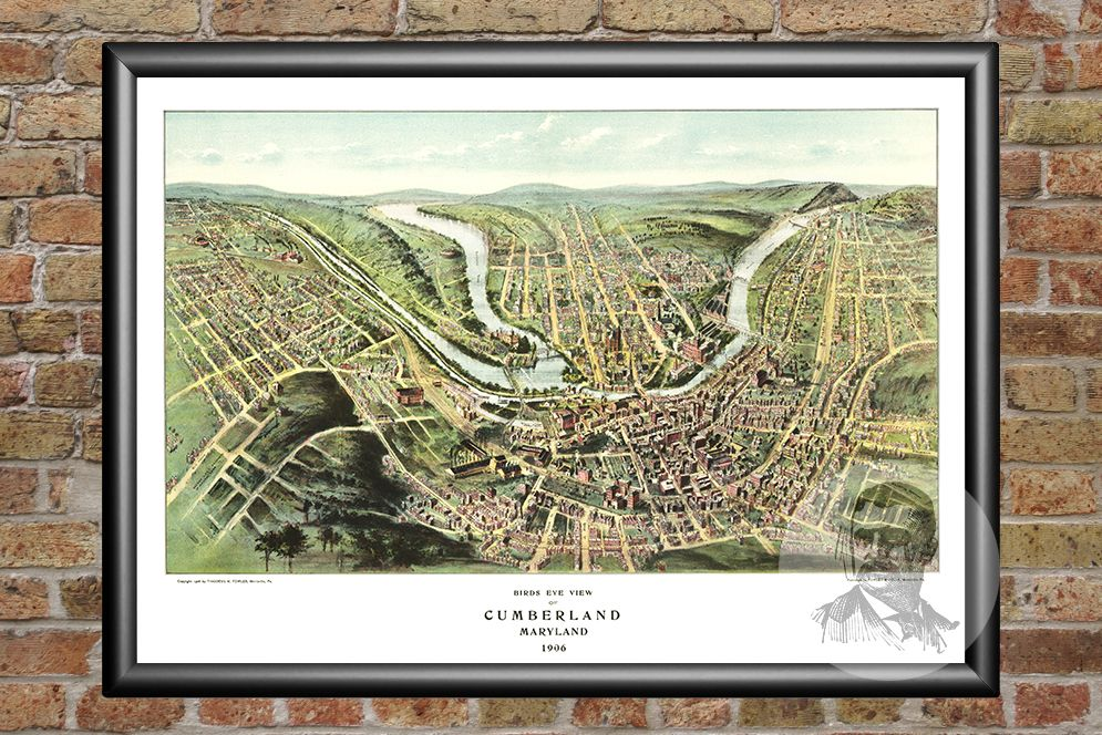 Cumberland, MD Historical Map - 1906