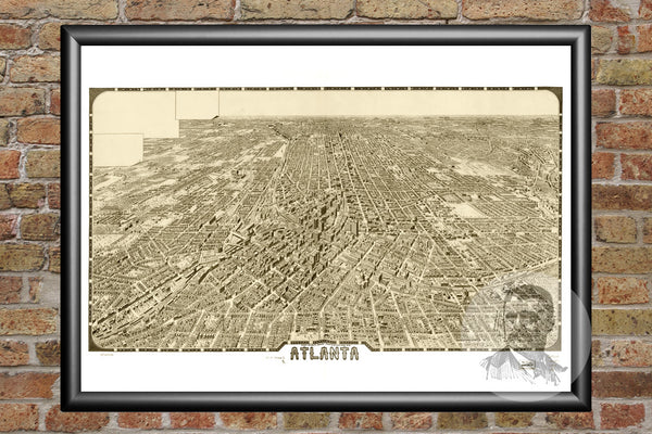 Atlanta, GA Historical Map - 1919