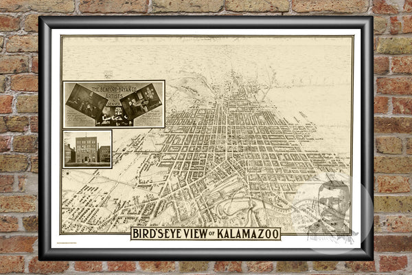 Kalamazoo, MI Historical Map - 1908