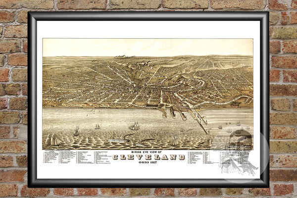 Cleveland, OH  Map - 1877