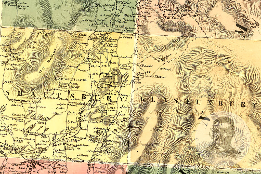 Bennington County, VT 1856 Land Ownership Map - Ted's Vintage Maps