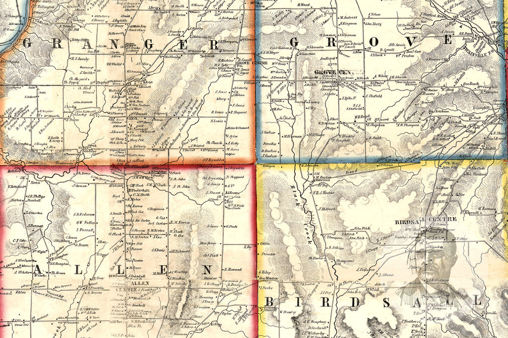 Allegany County, NY 1856 Land Ownership Map - Ted's Vintage Maps