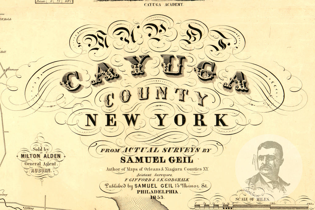 Cayuga County, NY 1853 Land Ownership Map - Ted's Vintage Maps