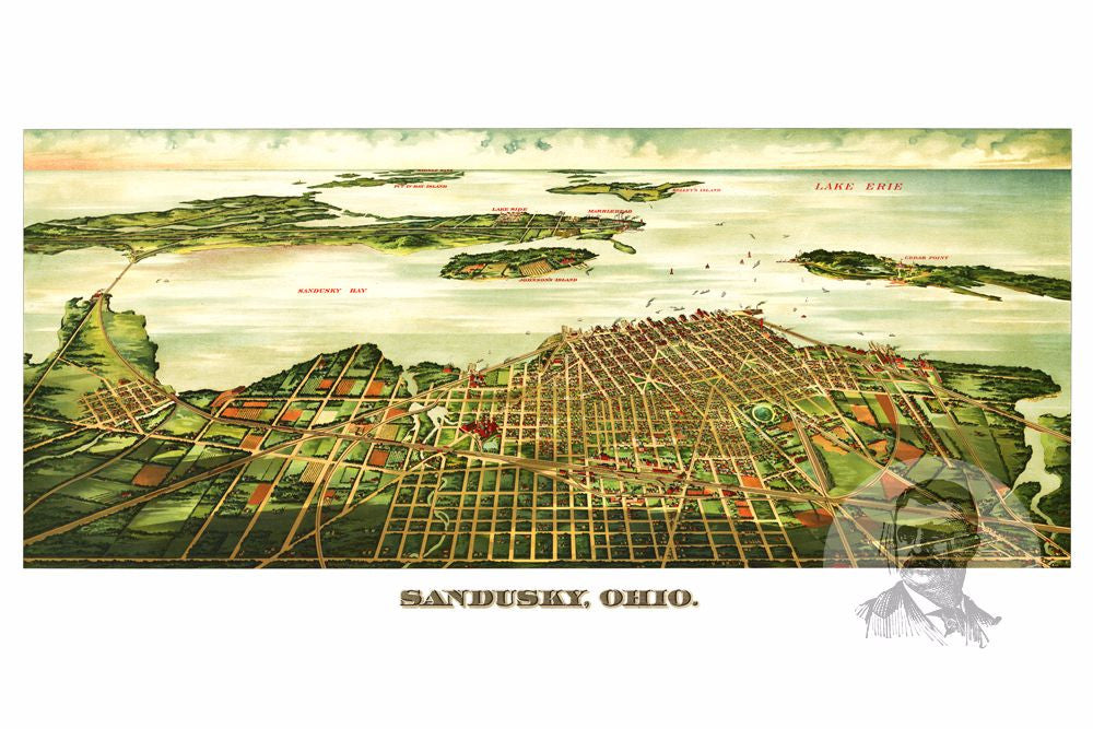 Sandusky, OH Historical Map - 1898