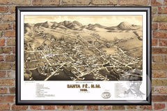 Santa Fe, NM Historical Map - 1882
