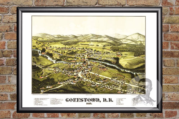 Goffstown, NH Historical Map - 1887