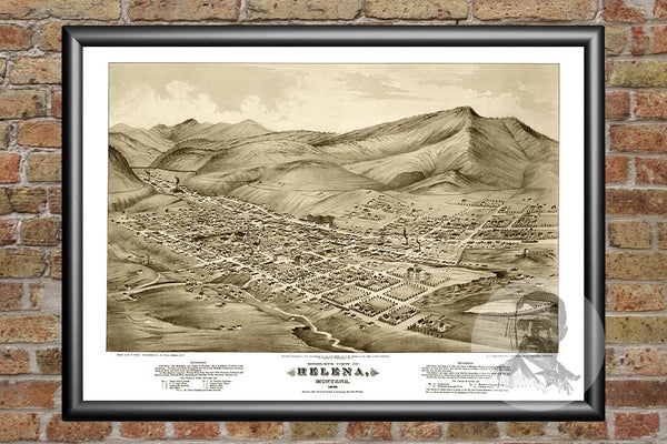 Helena, MT Historical Map - 1875
