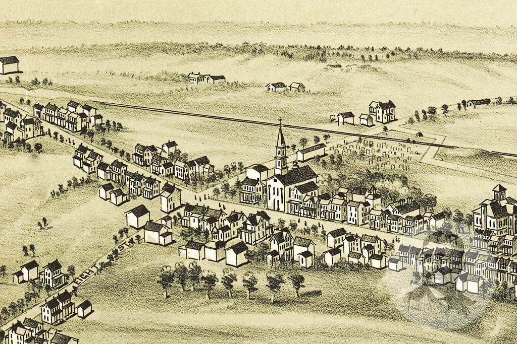 Pennsburgh, PA Historical Map - 1894