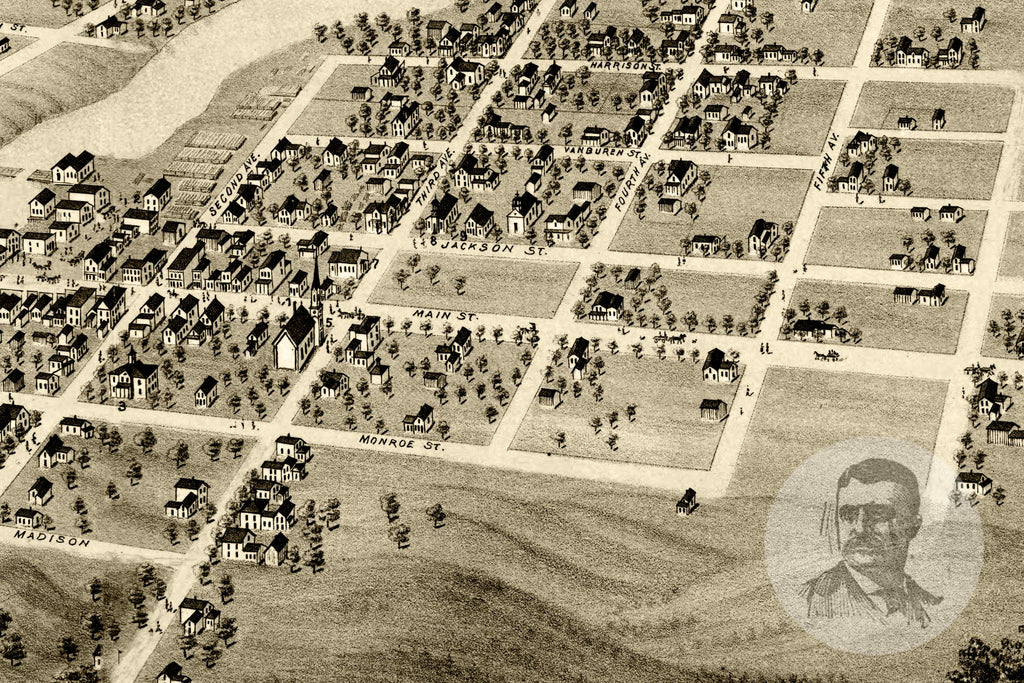 Anoka, MN Historical Map - 1869 - Ted's Vintage Maps
