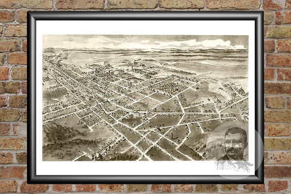 Hickory, NC Historical Map - 1907