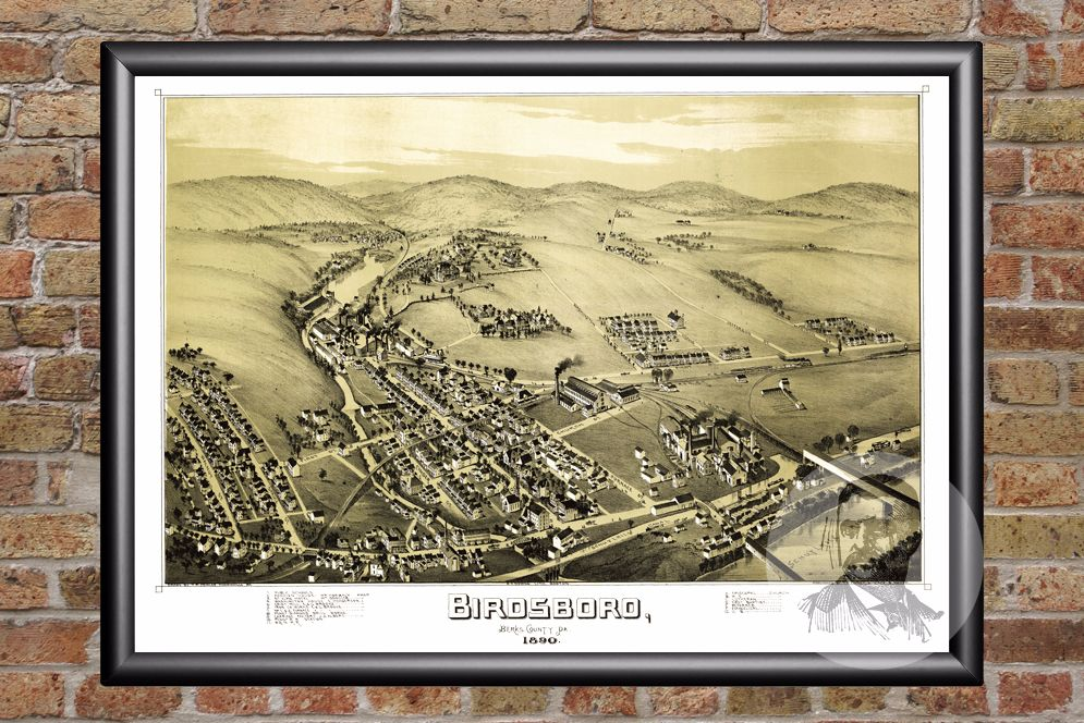 Birdsboro, PA Historical Map - 1890 - Ted's Vintage Maps