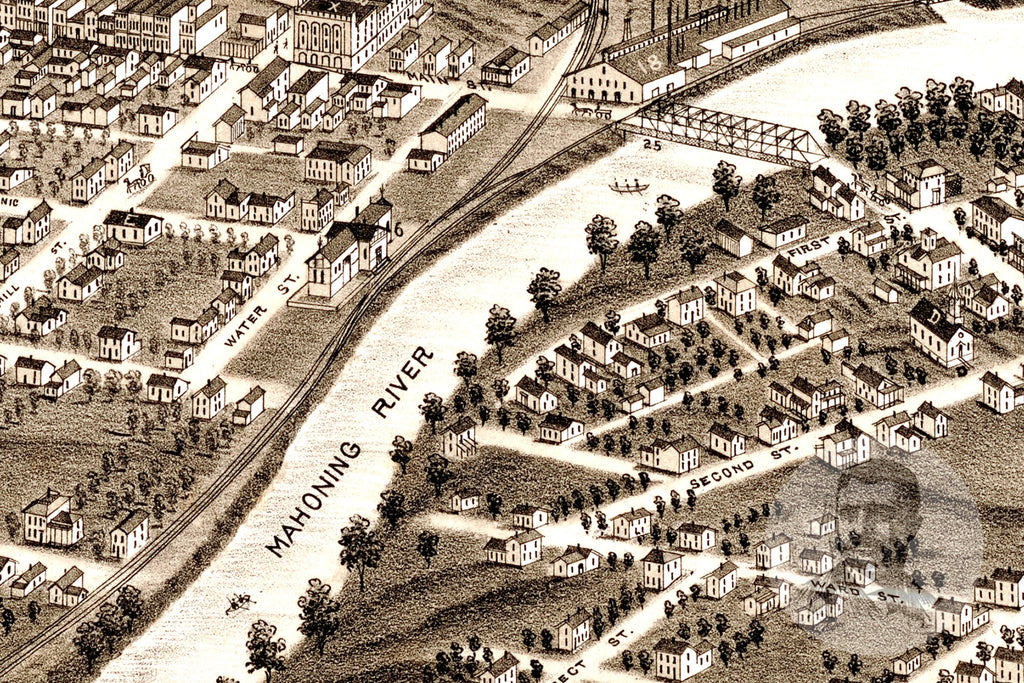 Niles, OH Historical Map - 1882