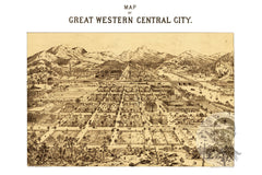 Central City, CO Historical Map - 1887