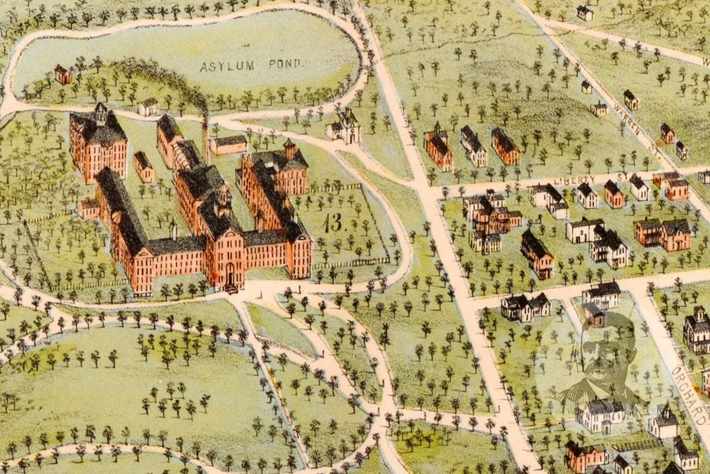 Concord NH Historical Map 1875 Teds Vintage Art